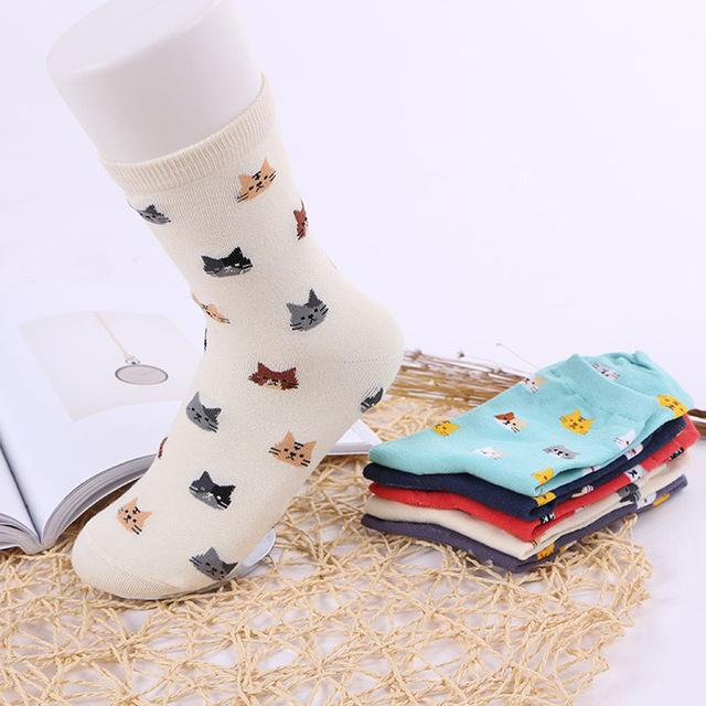 Calcetines de gatos, 5 colores