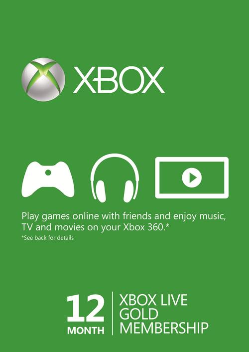 Xbox Live Gold 12 meses por 36.59€