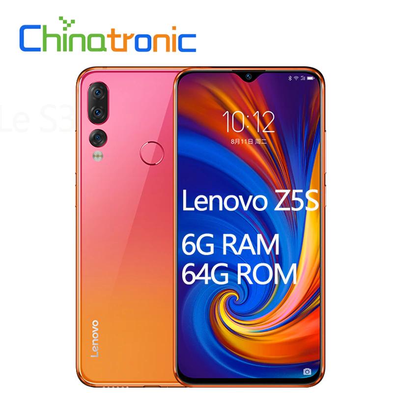 "Lenovo Z5S L78071 6G 64G ZUI 6,3 ""QHD 2340X1080"