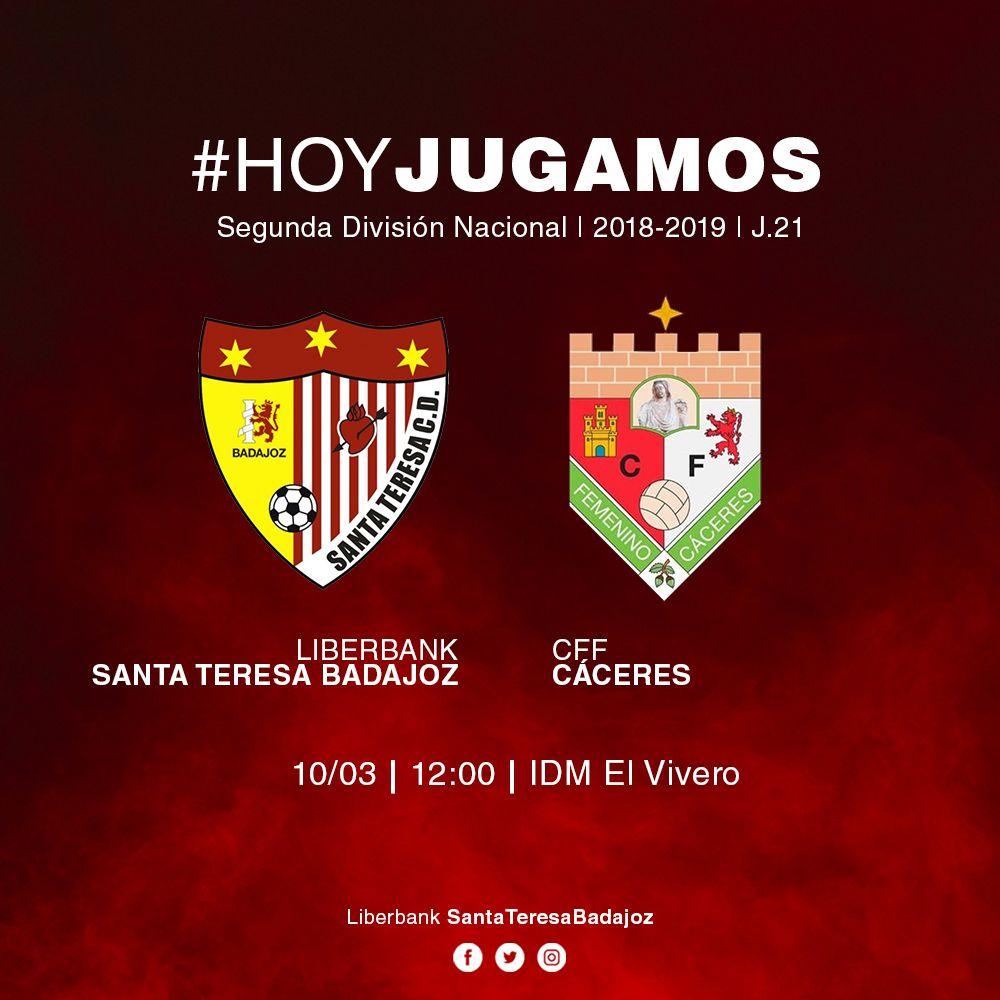 FÚTBOL FEMENINO: Santa Teresa Badajoz - Cáceres (Hoy a las 12:00 en el Vivero Gratis!!)