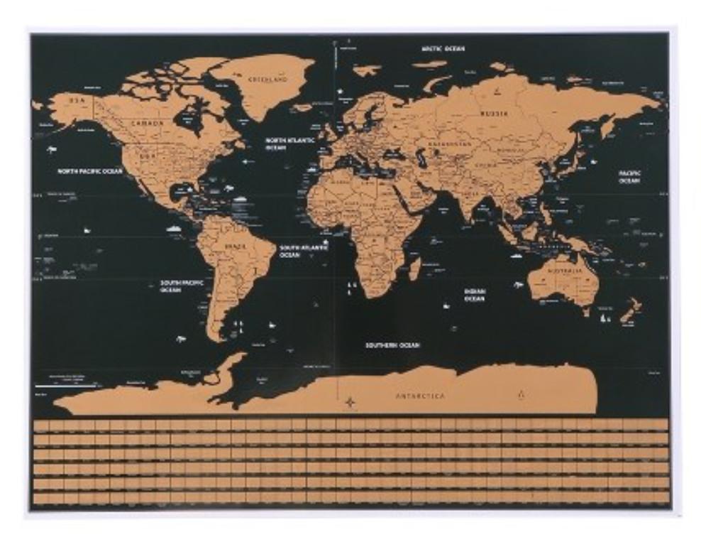 Mapa Mundial para rascar (Tamaño S)