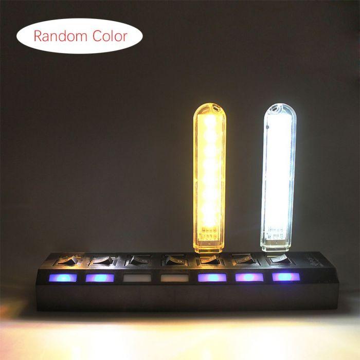 3PCs 8-LED USB Night Light - Random Color