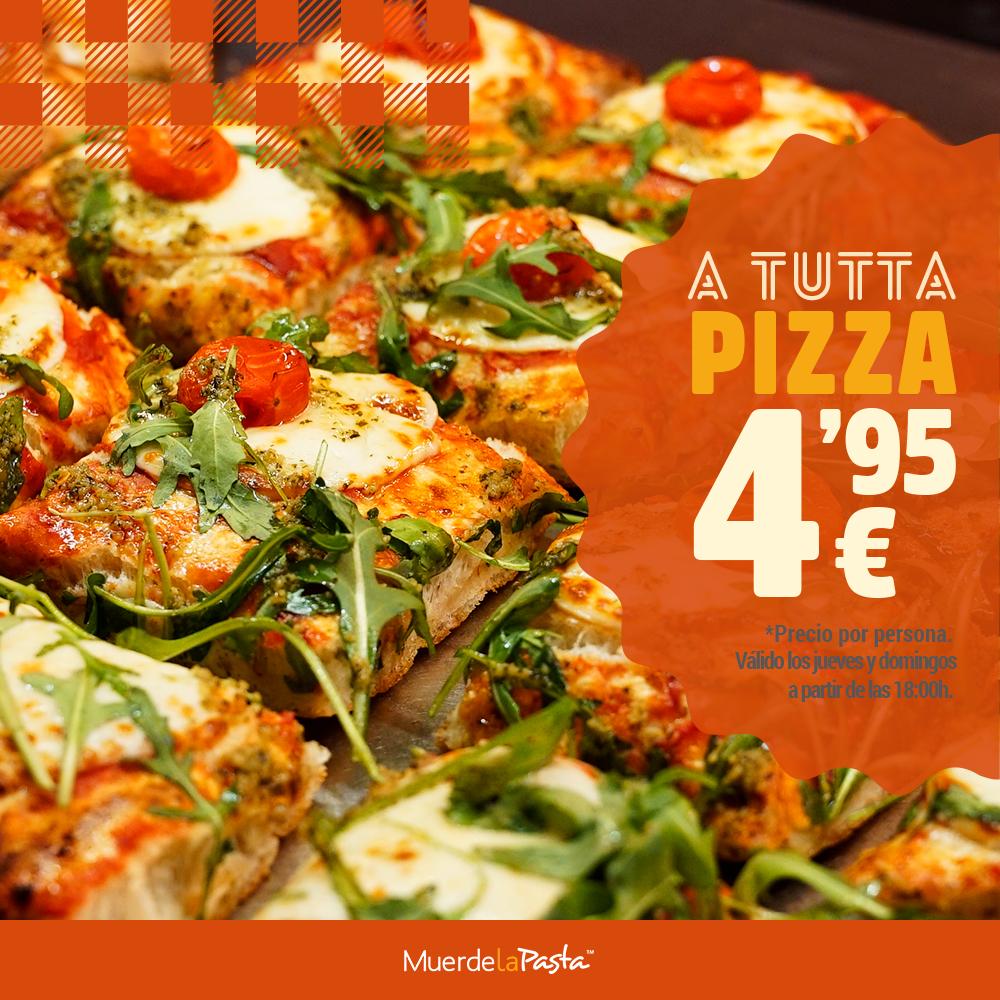 Buffet de PIZZAS + BEBIDAS por 4,95€ los domingos y jueves