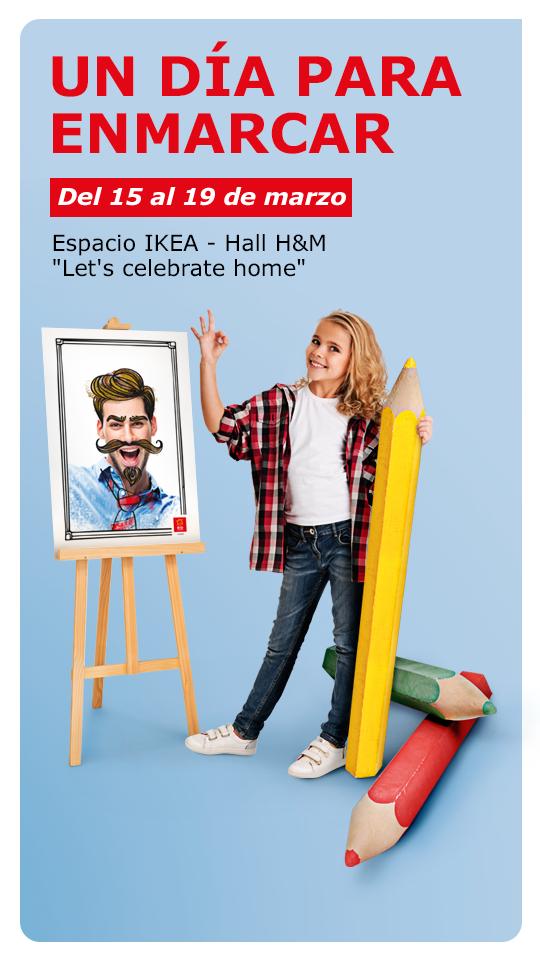 Caricatura profesional GRATIS con taller de arte Ikea Río Shopping Valladolid