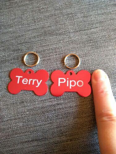 2 chapas personalizadas para tu mascota por 72 céntimos