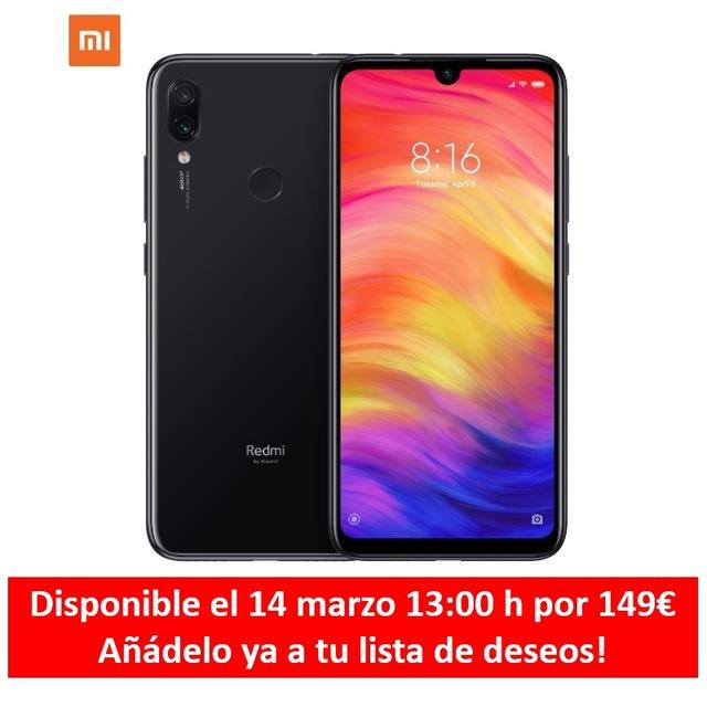 "[Versión Española] Xiaomi Redmi Note 7 de 6.3"" FHD+ (ROM 32 GB, RAM 3 GB) ALIEXPRESS PLAZA."