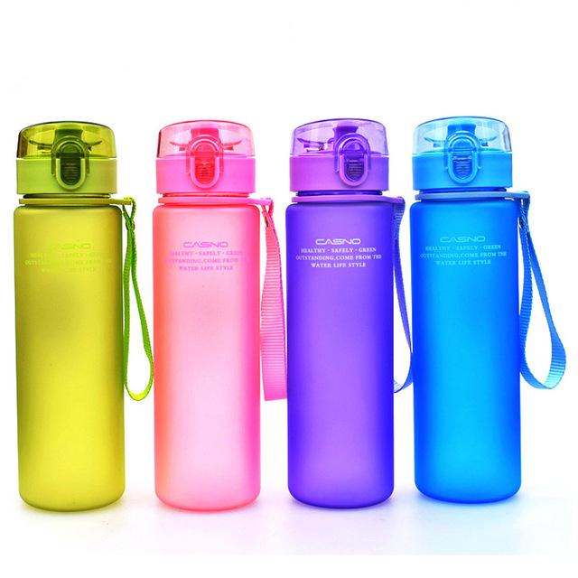 400 ml 560 ml Libre de BPA A Prueba de Fugas Botella de Agua de Los Deportes de Alta Calidad Botellas de Excursión Portátil
