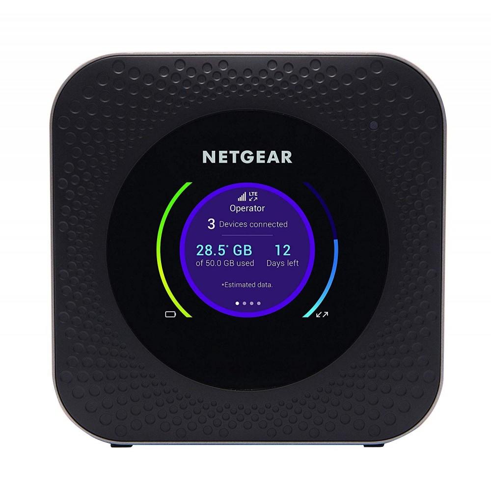Netgear Nighthawk MR1100-100EUS - Router LTE de Viaje portátil Hotspot M1 Negro