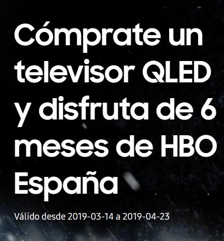 Medio Año HBO Gratis al comprar un QLED Samsung