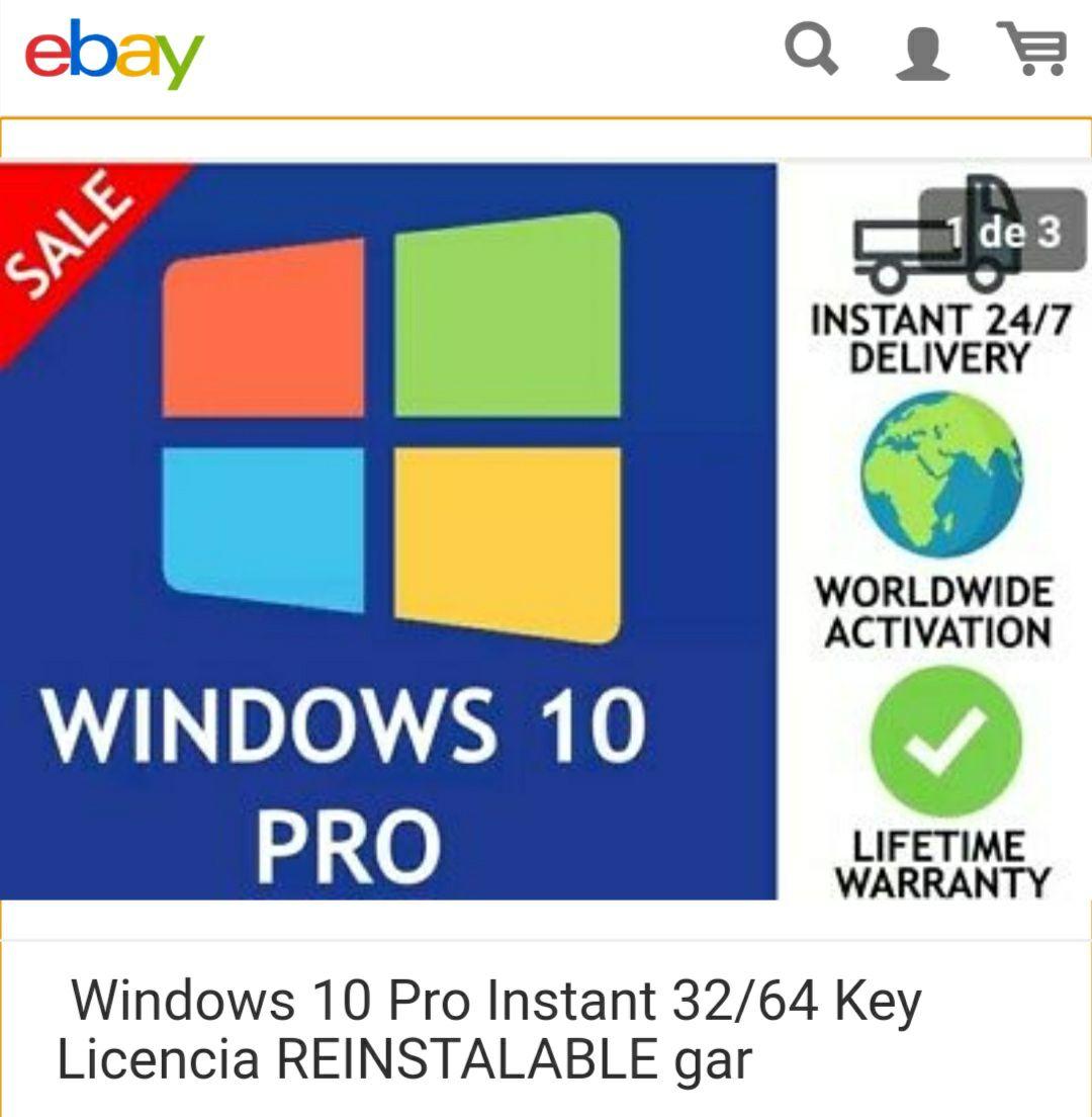 Licencia Original Windows 10 Pro Reinstalable