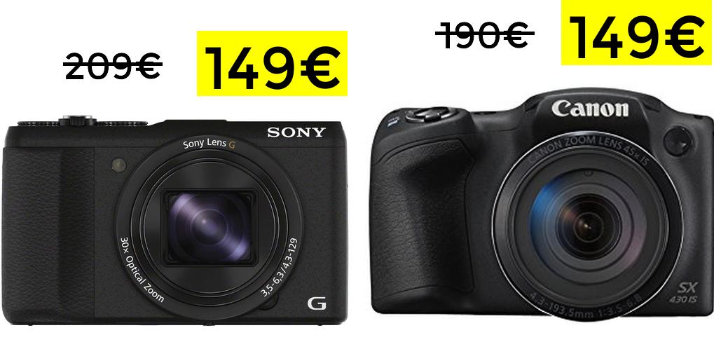 Preciazos en cámaras Sony y Canon