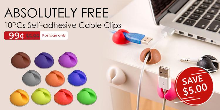 10 organizadores de cables adhesivos