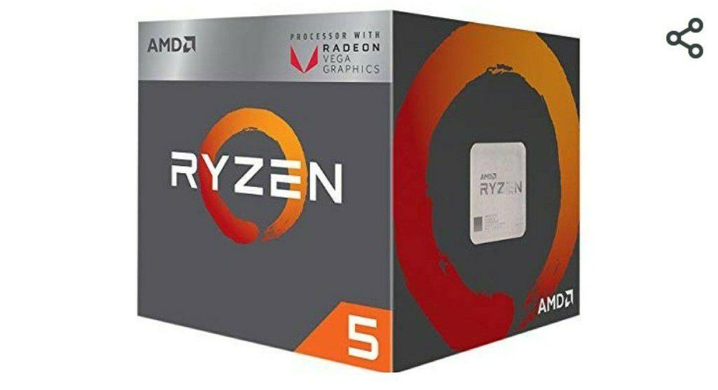 AMD Ryzen 5 2400G - Procesador con Radeon RX Vega11 Graphics