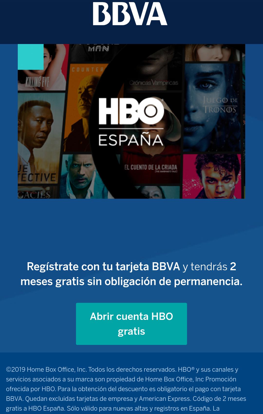 2 meses gratis de HBO