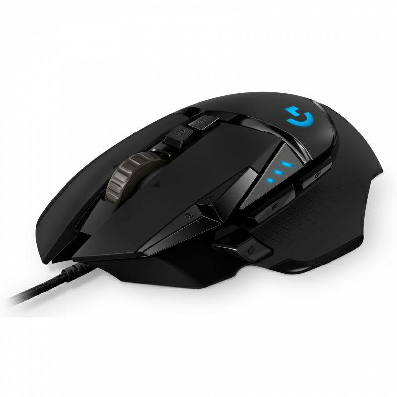 Logitech G502 Hero Mouse para Gaming - Negro