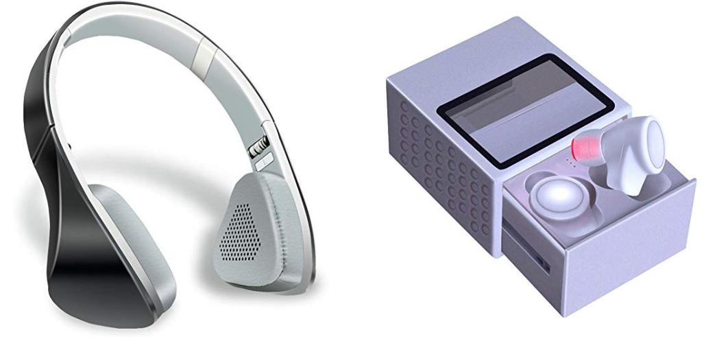 Auriculares Bluetooth de diadema // Auriculares inalambricos de oido