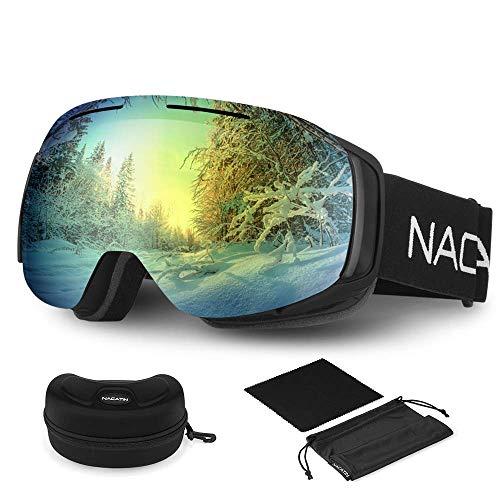 NACATIN Gafas de Esquí 4 en 1
