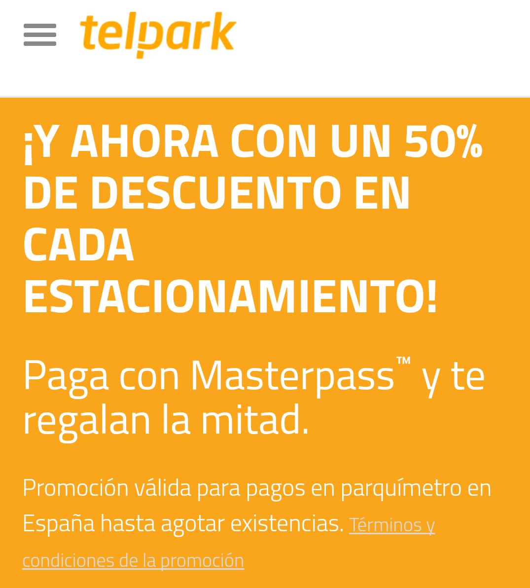 50% Descuento en Parquímetros App Telpark