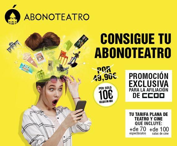 Abono teatro por 10 euros + 3,5 gestión