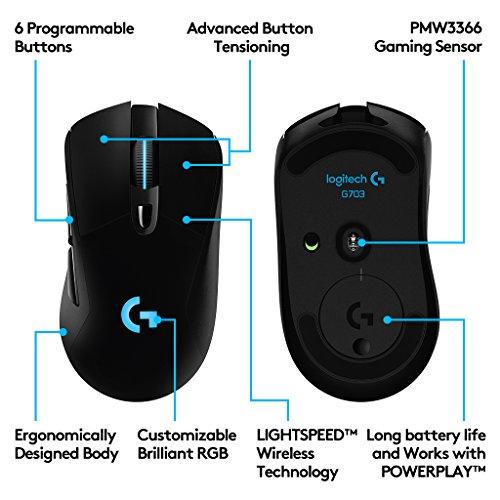 raton logitech g703 wireless
