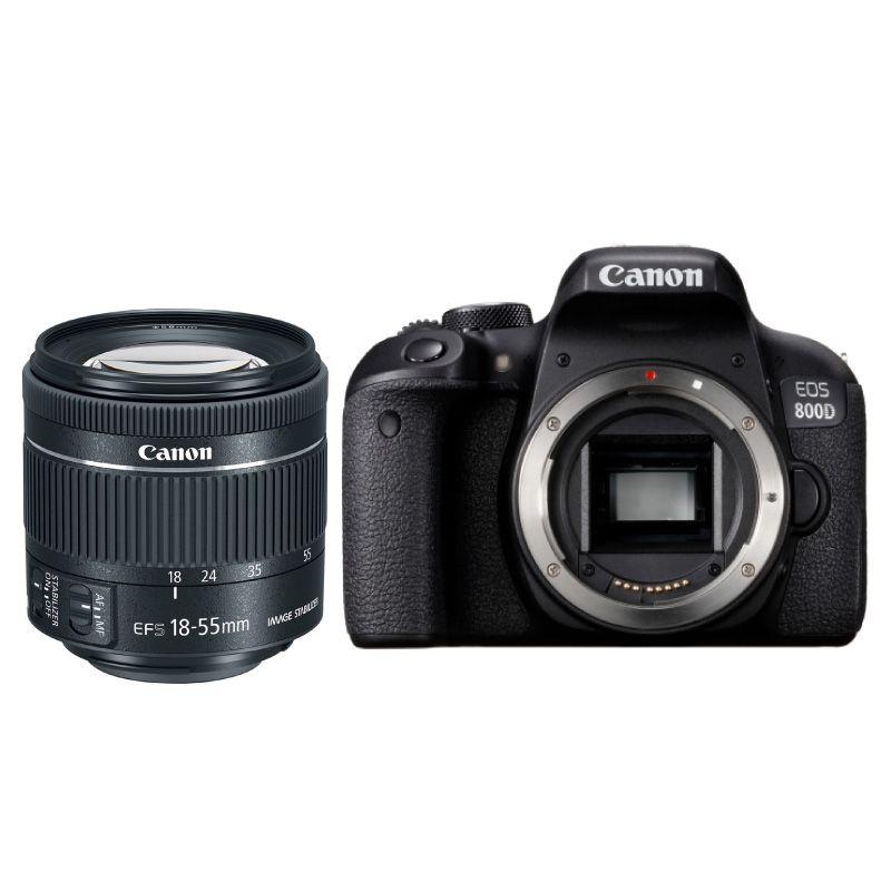 Canon 800D + Objetivo EF-S 18-55mm