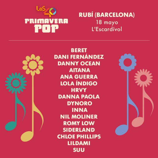 Concierto GRATUITO LOS40 Rubí Barcelona