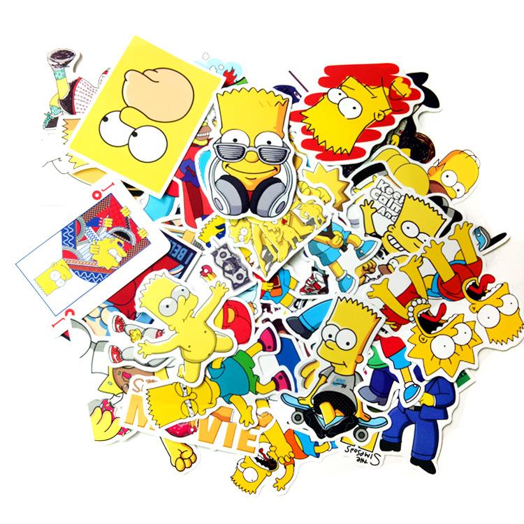50 pegatinas de Los Simpsons