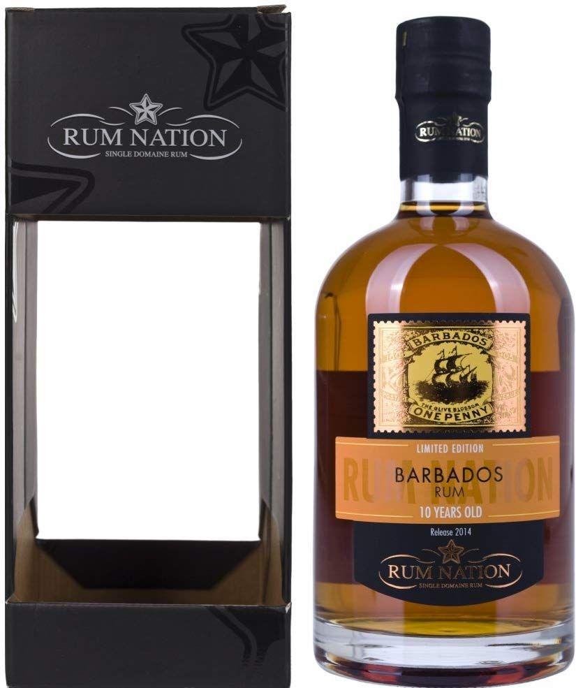 Ron Nation 10 años de Barbados - 700 ml.