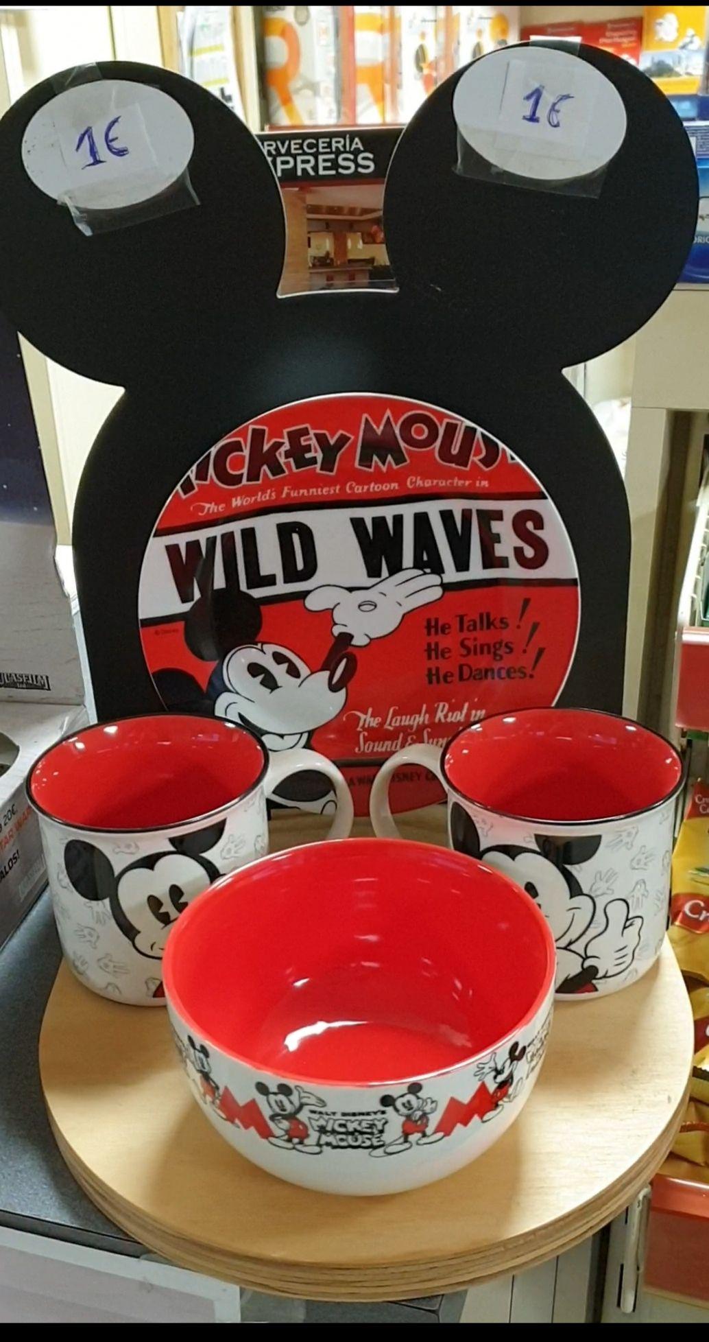 Tazas y platos de mickey Mouse a 1€