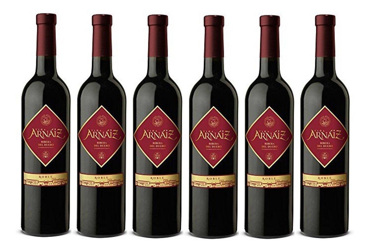 Viña Arnaiz Roble D.O Ribera del Duero Vino Tinto - 6 Botellas x 750 ml - Total : 4500 ml