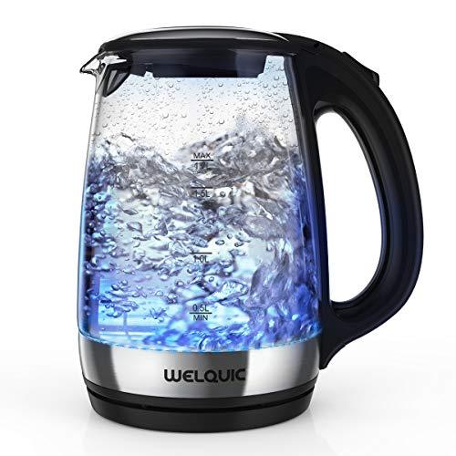 WELQUIC Hervidor de Agua Eléctrico 1.7L de cristal