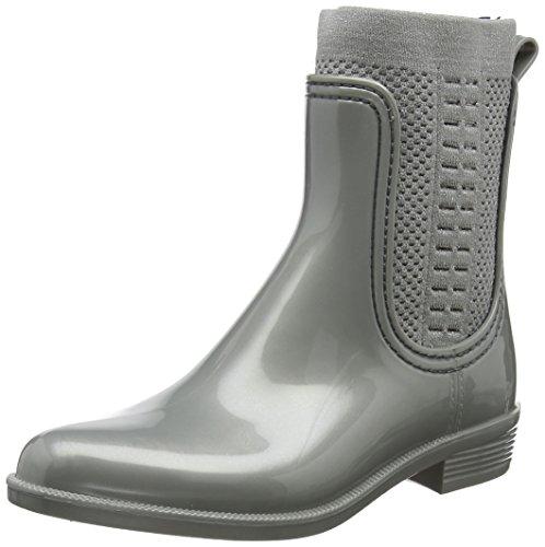 Tommy Hilfiger Tommy Knit Shiny Rain Boot, Botas de Agua para Mujer , Talla 37