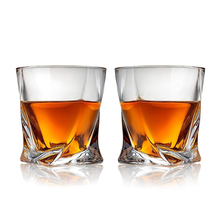 Cooko Twist Vasos de Whisky Juego de Vasos Ultra-Clarity