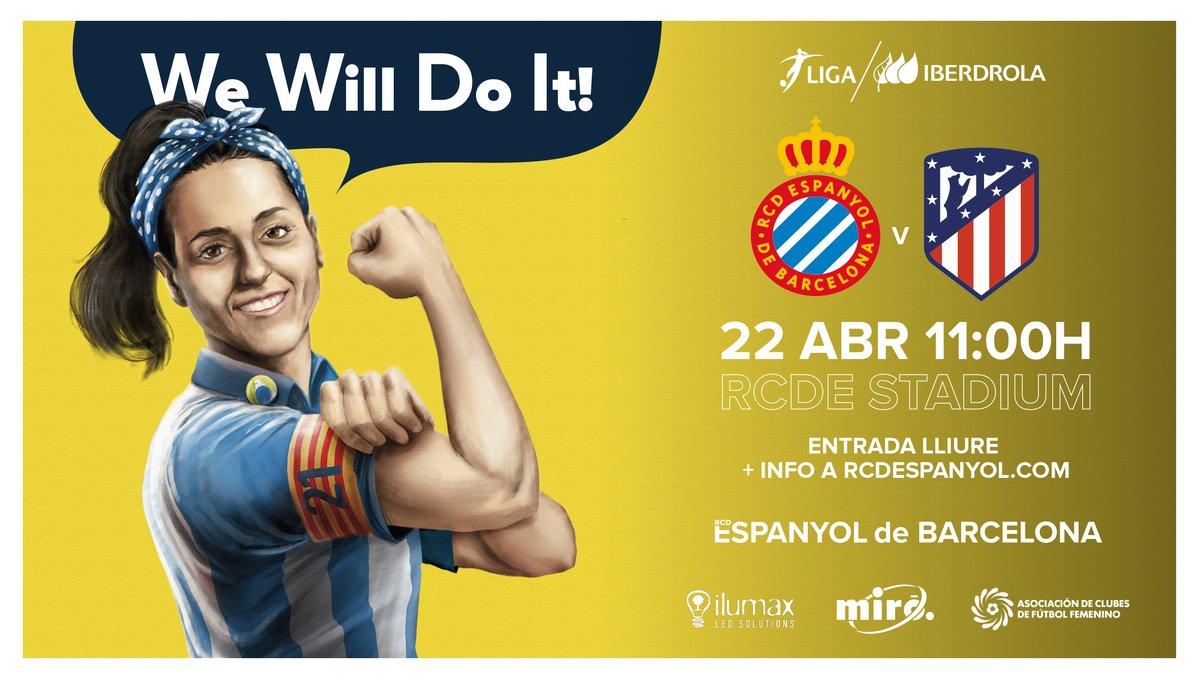 Futbol Femenino Entrada Gratuita Espanyol - Atlético de Madrid En RCDE Stadium