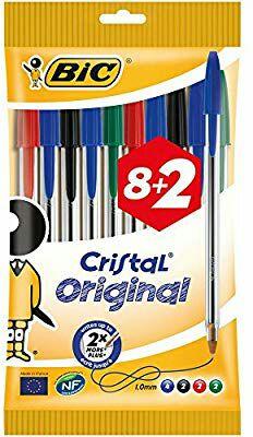 BIC Cristal Original - Pack de 8 + 2 bolígrafos