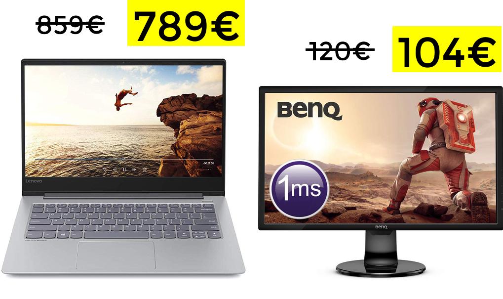 Lenovo Ideapad i7-8550U 512GB SSD solo 789€