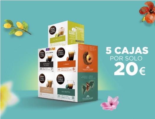 5 cajas de Dolce gusto por 20 euros