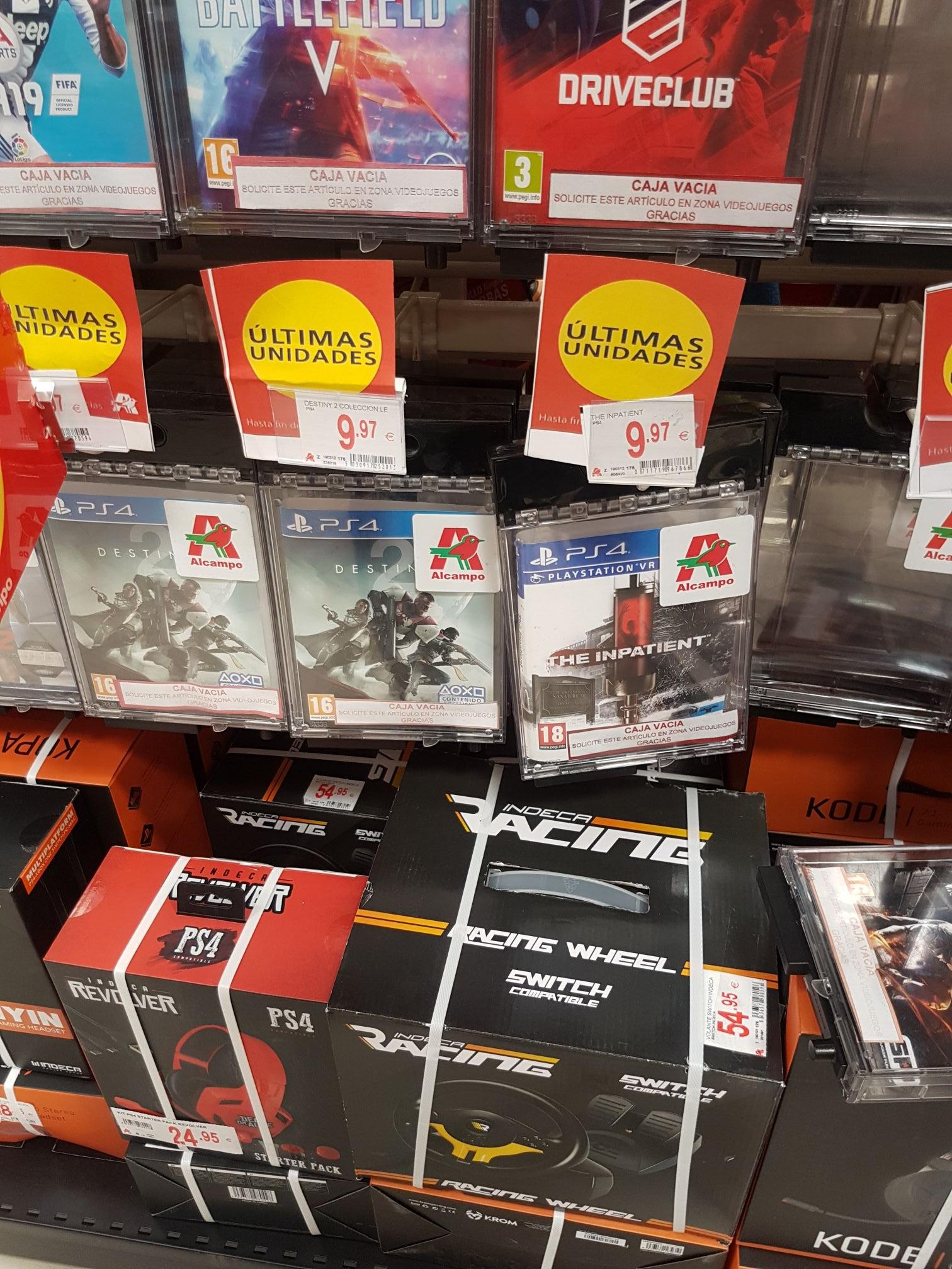 Juegos PS4 últimas unidades en Alcampo!