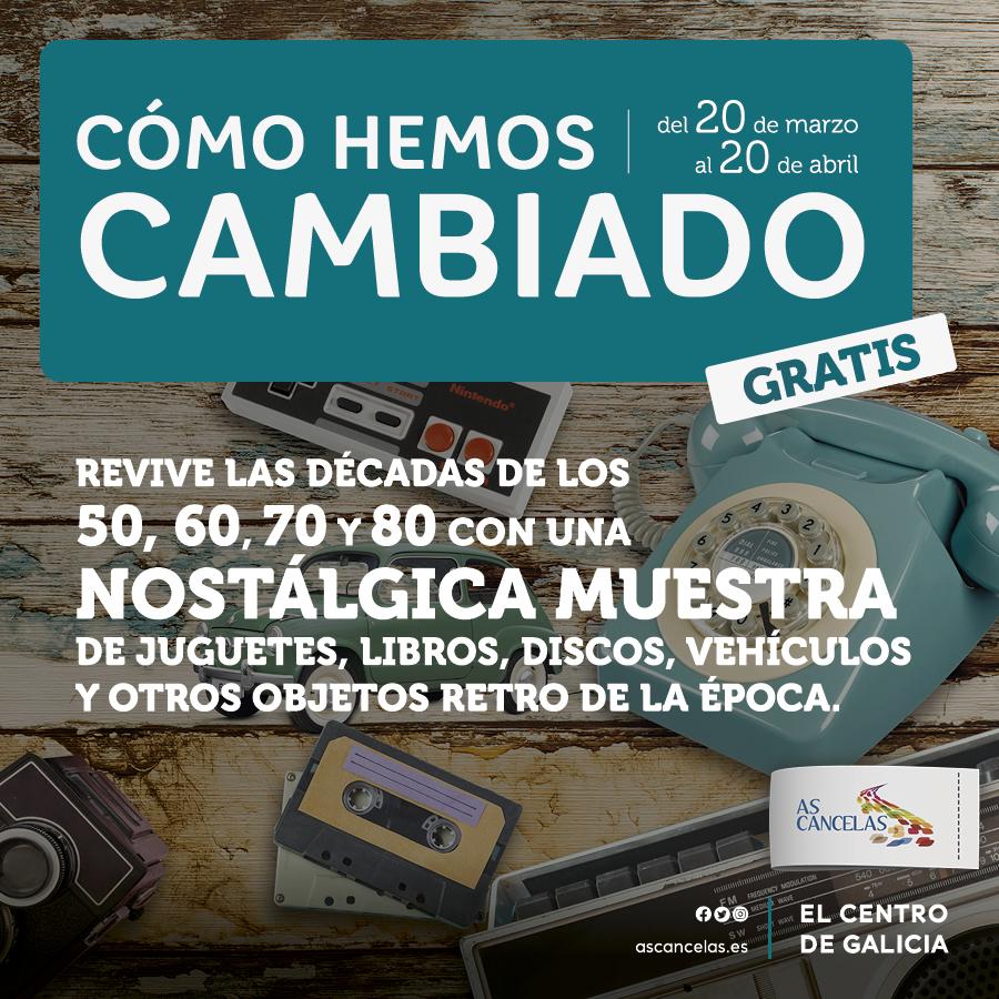 Exposición nostálgica GRATIS para los que peinamos canas Santiago de Compostela