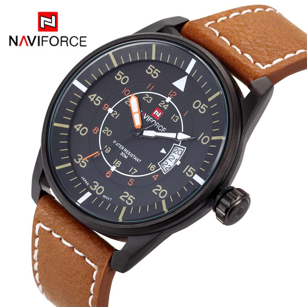 Naviforce 9044 reloj cuero solo 7€