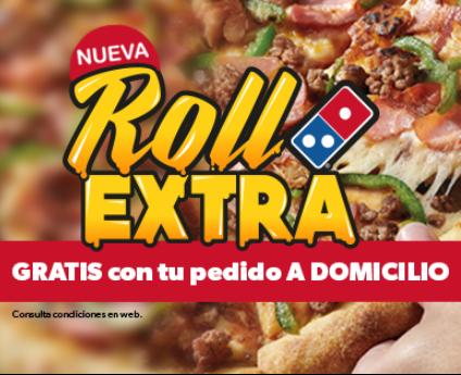 Gratis Roll Extra Domino's pizza con tu pedido a domicilio