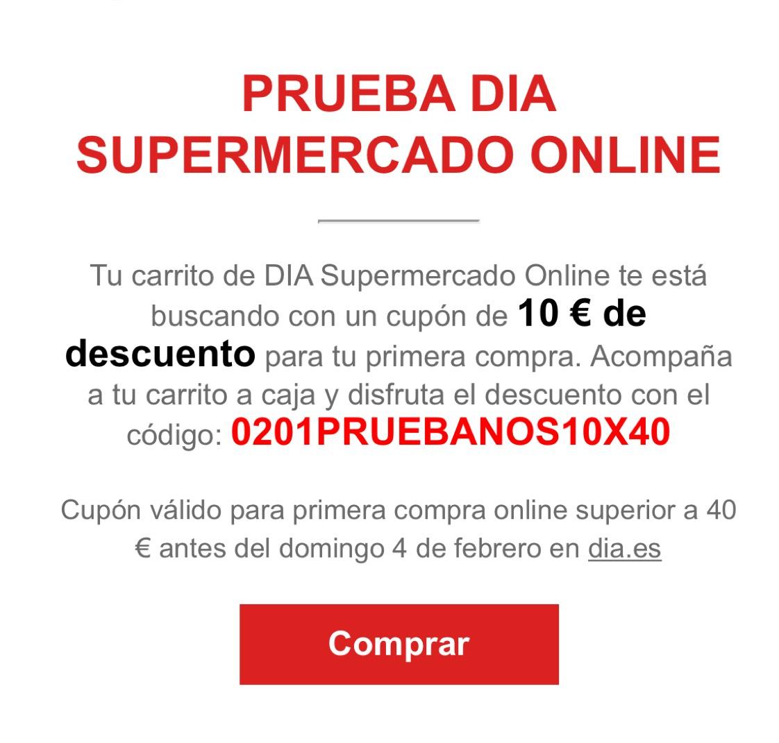 10€ SUPERMERCADO DÍA