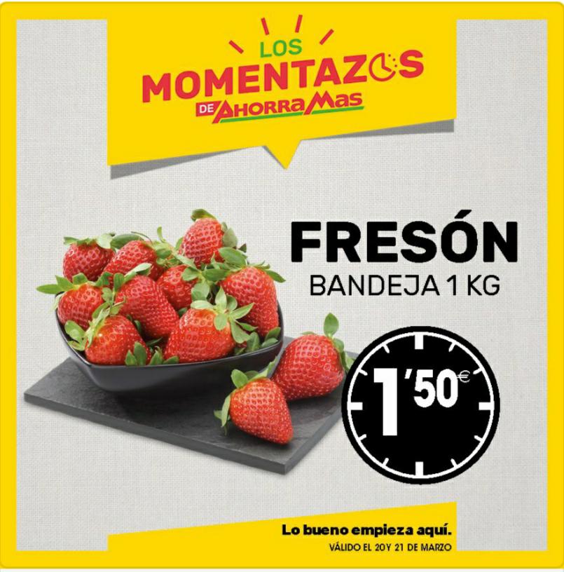 Fresones (Bandeja de 1KG) en supermercados ahorraMas