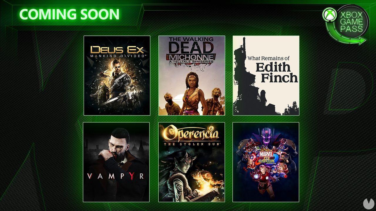 Xbox Game Pass: Llegan gratis Deus Ex, Vampyr, Operencia, Marvel vs. Capcom Infinite y mucho más