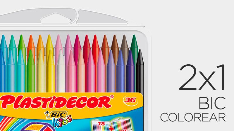 2x1 en artículos de colorear marca BIC