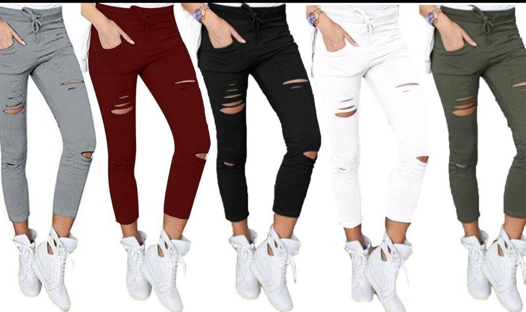 Pantalones elasticos de mujer