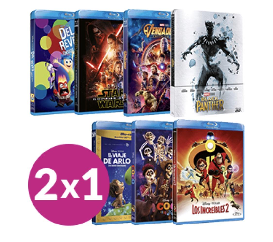 2x1 en películas Blu-ray Disney GAME