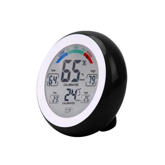 Medidor de temperatura y humedad táctil