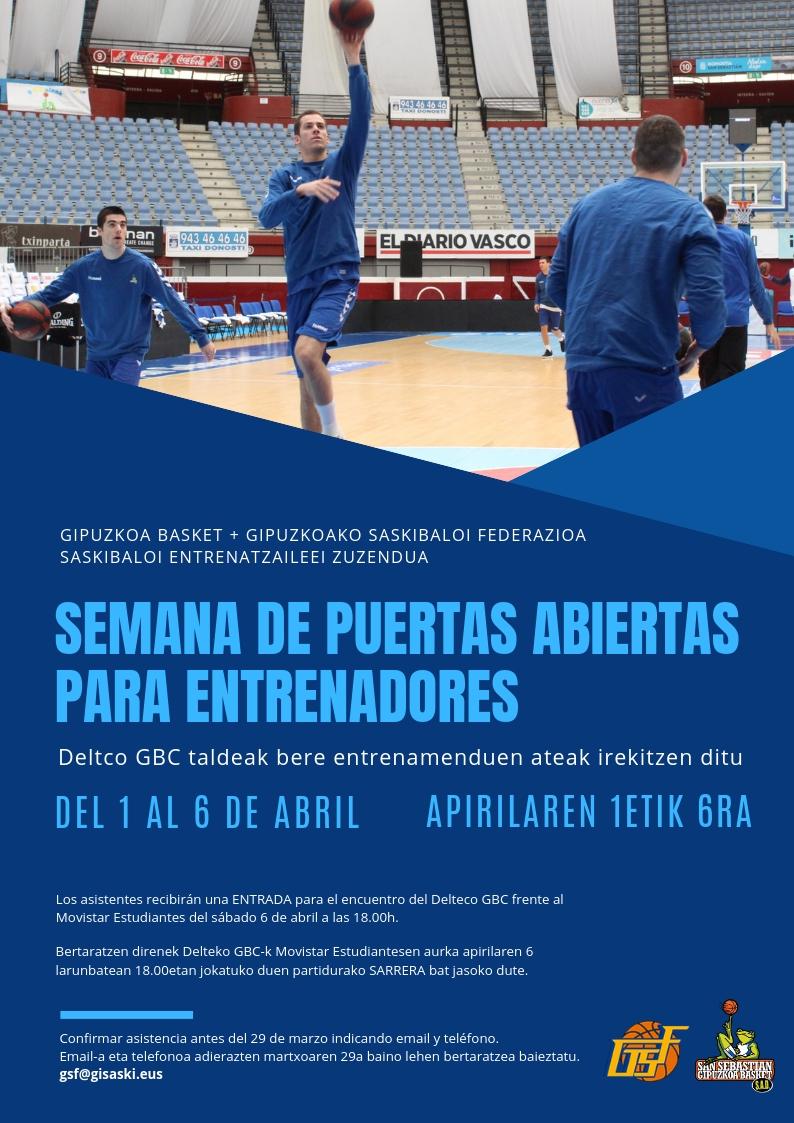Baloncesto 1 Semana de Puertas Abiertas para Entrenadores + 1 Entrada de Baloncesto Gratuita