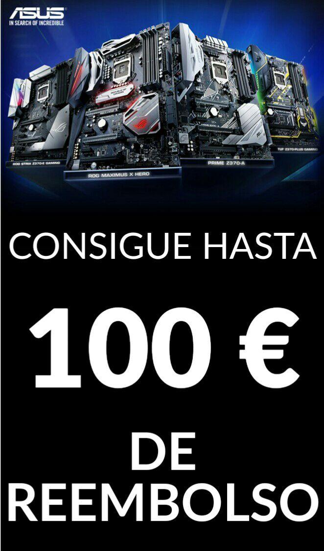 Hasta 100€ Cashback Asus+ intel